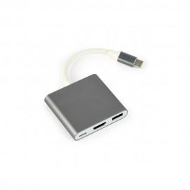 Adaptador 3in1 Type-C para USB 3.0 HDMI Type-C