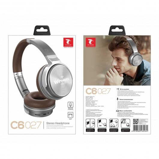 Headphones Bluetooth LT PLUS C6027 Cinzento